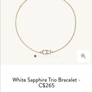 Mejuri White Sapphire Trio Bracelet